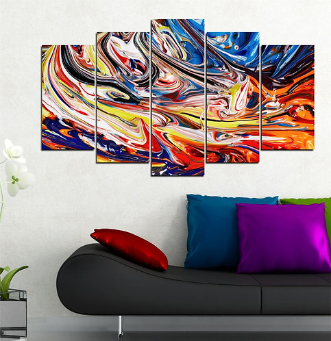 Abstract (10) 5 Pieces MDF Painting