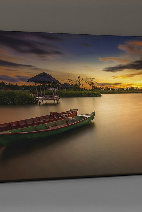 Boats �n The Lake Canvas Printings
