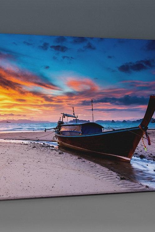 Kayak On The Beach Canvas Printings
