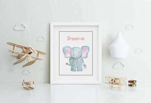 Elephant-Dream on Framed Printing