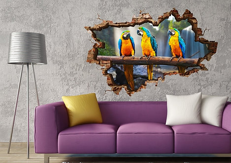 Parrot 3D Wall Sticker