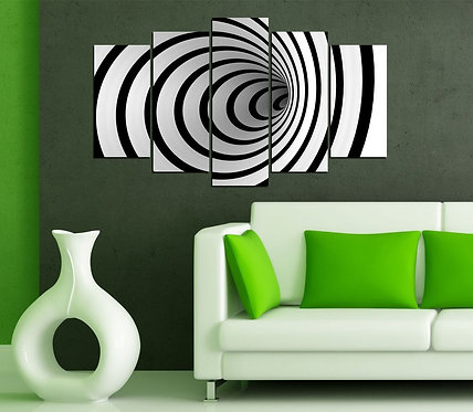 Illusion 5 Pieces MDF Painting