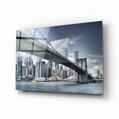 Manhattan Bridge UV Printed Glass Painting