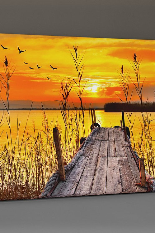 Sunset On The Docks Canvas Printings