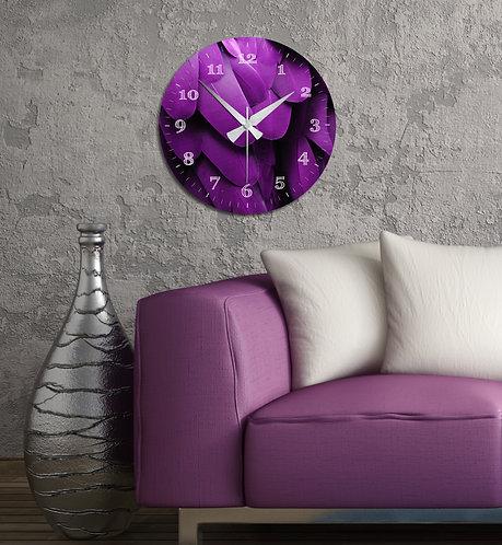 Red tulip MDF Clock