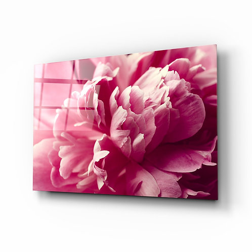 Pink Flower Glass Printing