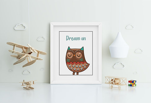 Owl-Dream on Framed Printing