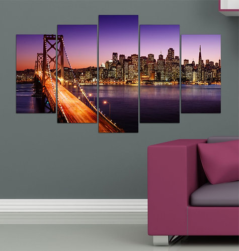 San francisco 5 Pieces MDF Painting