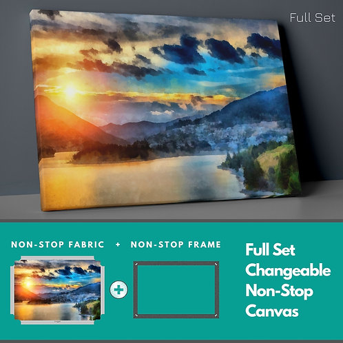 Sunset �n Nature Non-Stop Canvas Printings