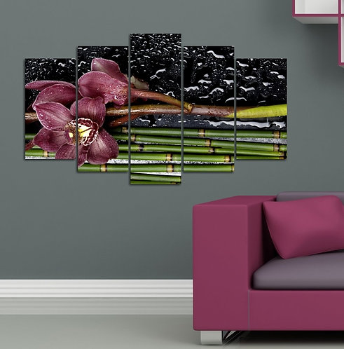 Orchid 5 Pieces MDF Painting