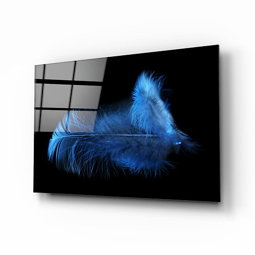 Feather UV Printed Glass Painting