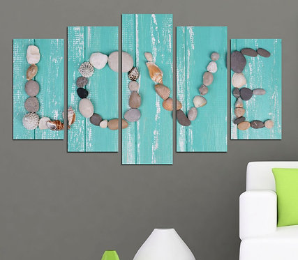Love (3) 5 Pieces MDF Painting