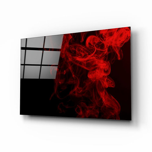 Red Smoke UV Printed Glass Painting