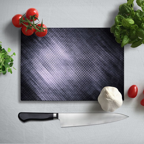 Metal Patterned Uv Printed Glass Chopping Board 35x25 cm