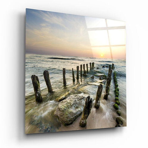 Ruined Dock UV Printed Glass Painting