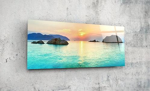 Sea  UV Glass Painting