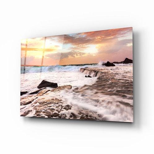 Waves UV Printed Glass Printing