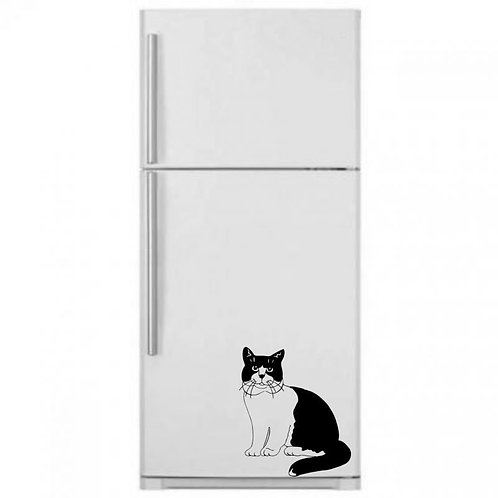 Cat Fridge  Wall Sticker
