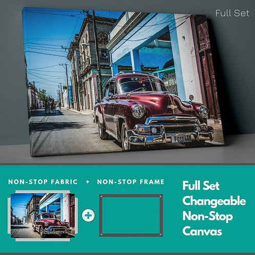 Classic Car Non-Stop Canvas Printings