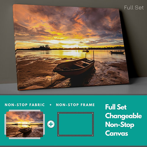 Boat And Redhead Non-Stop Canvas Printings