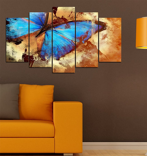 Butterfly 5 Pieces MDF Painting