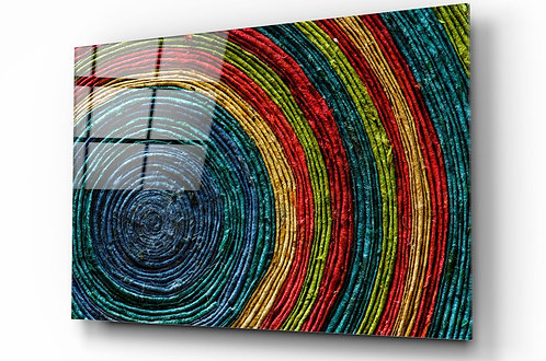 Colored Spiral Glass Painting