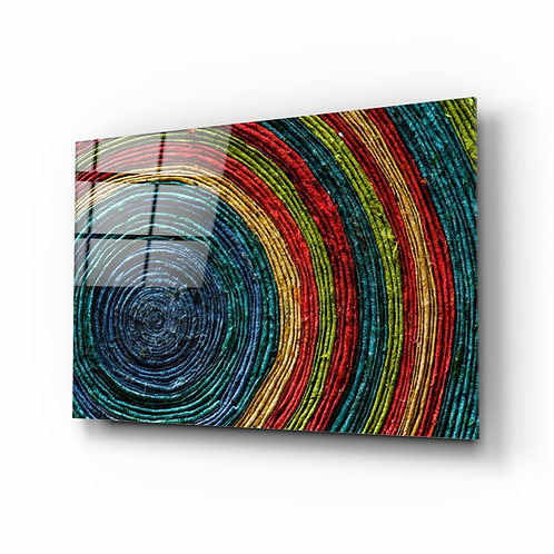 Colored Spiral Glass Printing