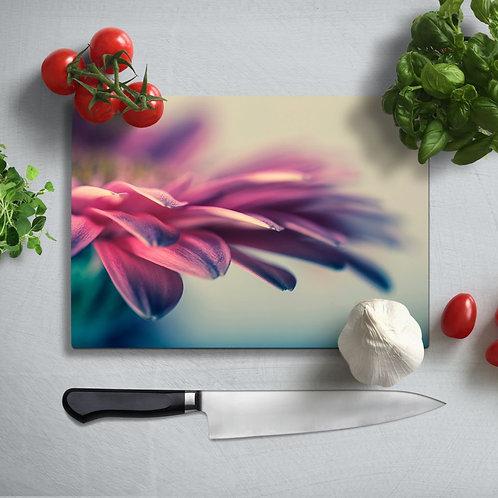 Leaves Uv Printed Glass Chopping Board 35x25cm