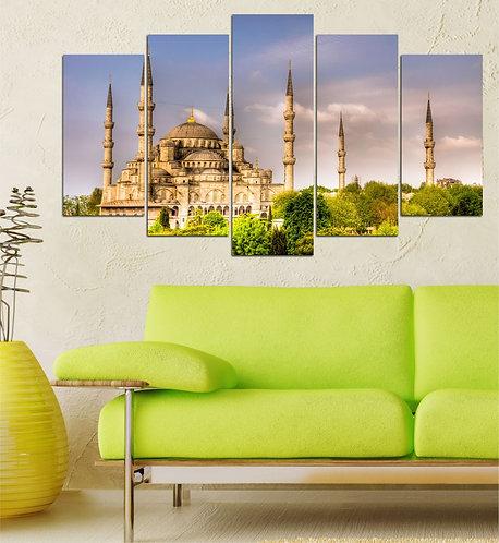 Sultan Ahmet Mosque 5 Pieces MDF Painting