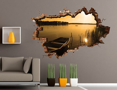 Kayak 3D Wall Sticker
