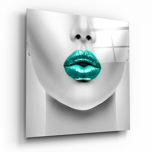 Emerald Lips Glass Printing