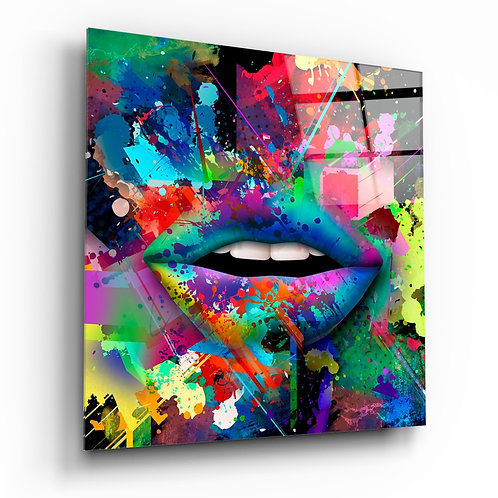 Lips That Add Color Glass Printing