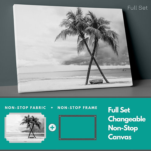 Cross Palm Trees Non-Stop Canvas Printings