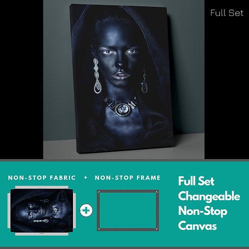 Women And Earrings Non-Stop Canvas Printings
