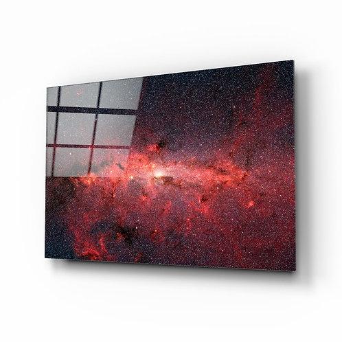 Red Nebula Glass Painting