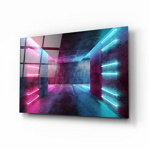 Geometric Lights Glass Printing