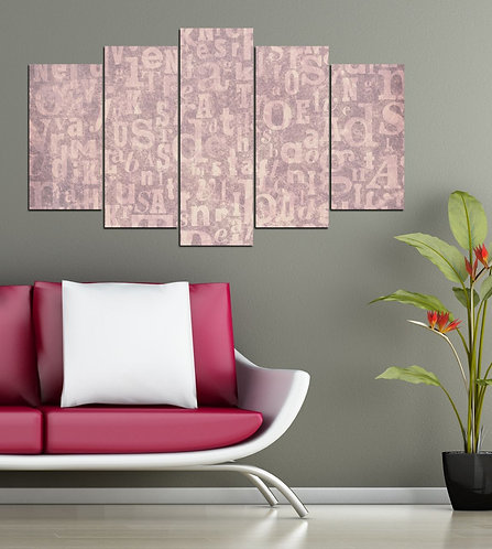 Abstract (2) 5 Pieces MDF Painting