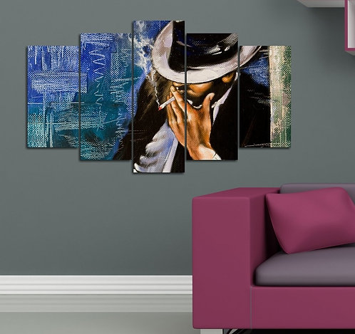 Abstract (22) 5 Pieces MDF Painting
