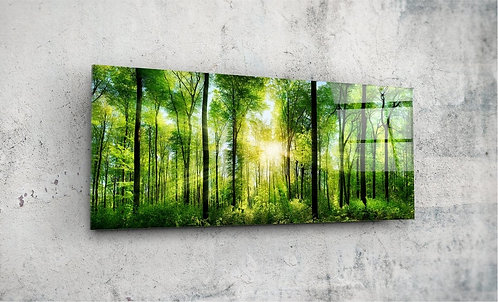 Forest  UV Glass Painting