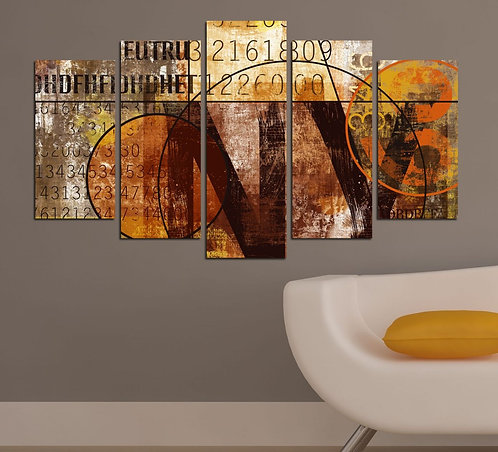 Abstract (29) 5 Pieces MDF Painting