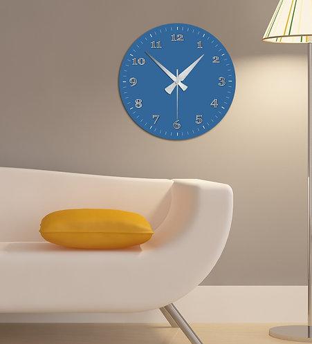 blue MDF Clock