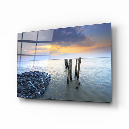 Sea Landscape UV Printed Glass Painting