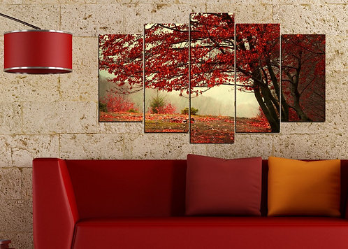 Autumn 5 Pieces MDF Painting