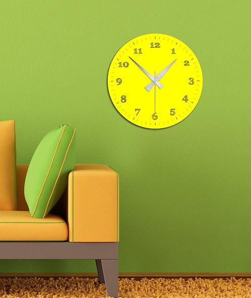 Yellow MDF Clock