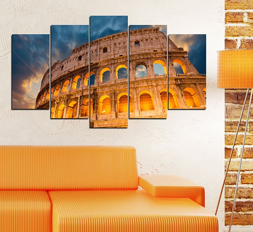 Colosseum (3) 5 Pieces MDF Painting