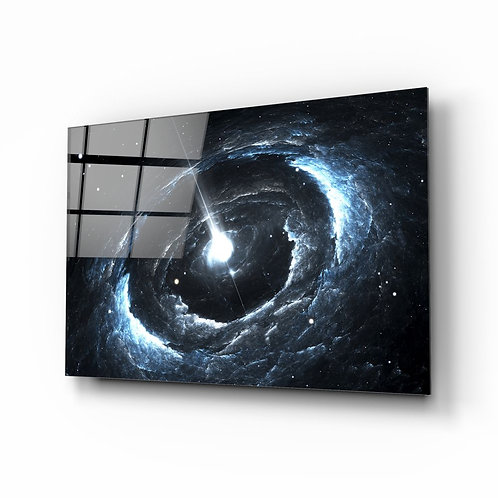 Cosmos UV Printed Glass Painting