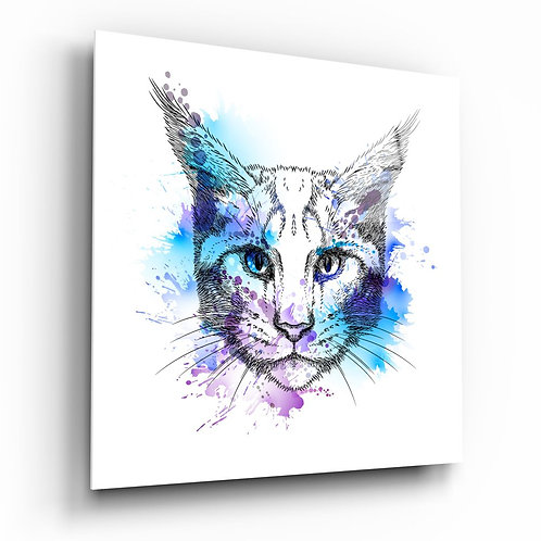 Cat UV Printed Glass Printing