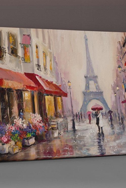 Paris (Oil Painting) Canvas Printings