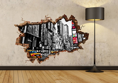 New York Taxi 3D Wall Sticker
