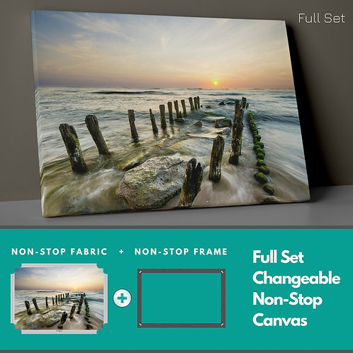 Waves And Sunset Non-Stop Canvas Printings